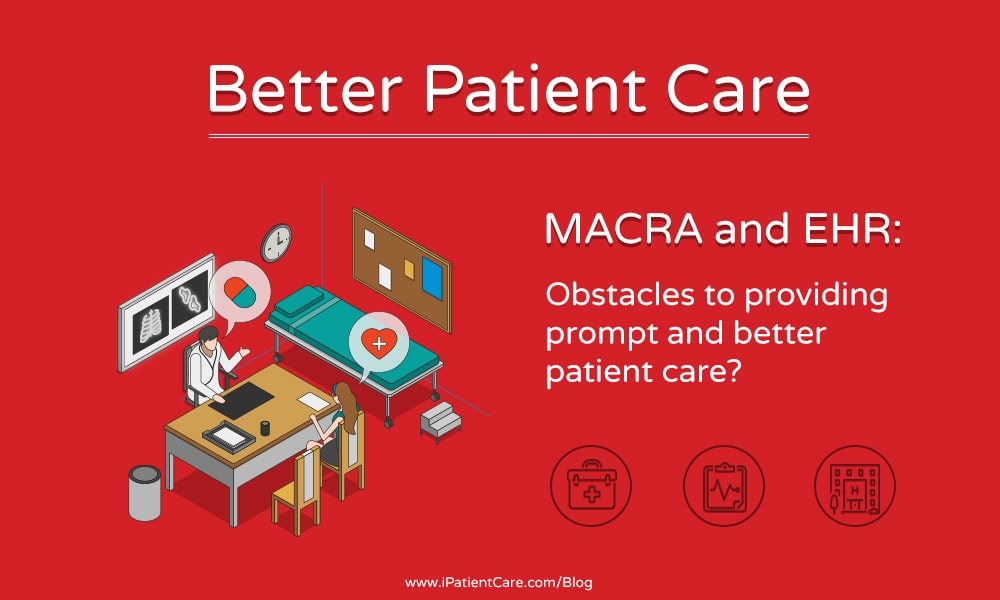 iPatientCare Blog - MACRA and EHR Obstacles to providing prompt and better patient care